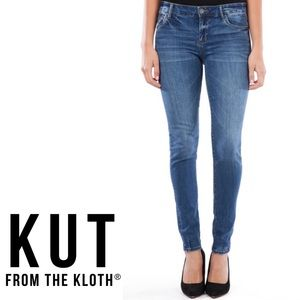 KUT from the kloth Mia Toothpick Skinny Jeans Sz 6